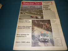 MOTORING NEWS 1979 Aug 30 Dutch GP, Aurora F1 Brands,F3 Silverstone,1000 Lakes Rally